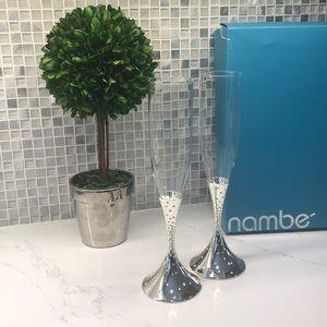 NAMBÉ  NIB Dazzle' Champagne Toasting Flutes